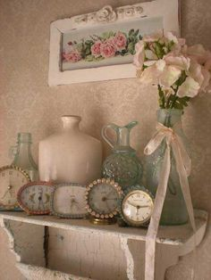 #shabby chic #vintage clocks! love everything! imgur: the simple image sharer
