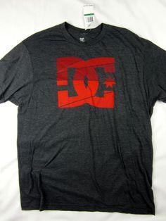 DC Shoes skate premium logo soft t shirt men's charcoal heather size XL #DCShoes #GraphicTee