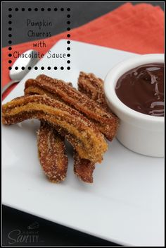 Pumpkin Churros with Chocolate Dipping Sauce