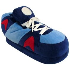 Dark Blue, Blue and Red Go Happy Feet Slippers