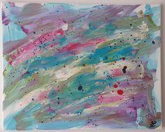 """Regenwetter"" Artwork, Rainy Weather, Business, Abstract, Canvas, Painting Art, Creative, Kunst, Work Of Art"