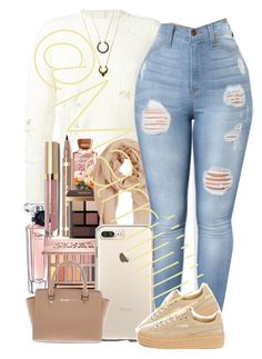 """Cream"" by marriiiiiiiii ❤ liked on Polyvore featuring adidas Originals, Lancôme, Urban Decay, Bobbi Brown Cosmetics, MANGO, Stila, Puma, Michael Kors and WithChic"