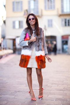 Milan street style, love the combination, spring can come!