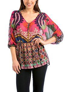 Desigual Women's Blouse -  Multicoloured - 8 Desigual http://www.amazon.co.uk/dp/B00VTIF75A/ref=cm_sw_r_pi_dp_ZYu8vb1PGS0B1