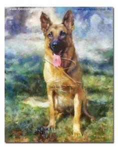 állatok, kedvencek festményen