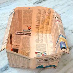 Make a Funky Newspaper Storage Bin