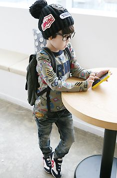 he's gonna be in a Kpop group hahaha ....AWESOME PARENTING