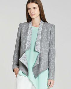 BCBGMAXAZRIA Blazer - Candice Zip Tweed on shopstyle.com