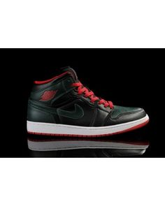 brand new 3bab1 938af Nike Air Jordan 1 Retro Mens Shoes Black   Deep Green   Red All kinds of