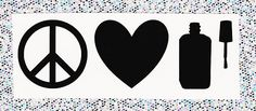 Peace Love Polish vinyl decal for travel mugs water bottles How To Remove, How To Apply, Transfer Tape, Travel Mugs, Water Bottles, Vinyls, Peace And Love, Notebooks, Vinyl Decals