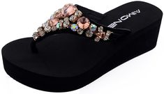 AIMONE Womens Aurelie Gold Middle High Flip Flop Thongs -- You can find out more details at the link of the image.