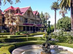 winchester house - in San Jose, CA    A Real haunted house I've been there! Great place to visit.