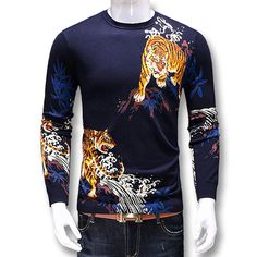 Cheap fashion men sweater, Buy Quality men fashion sweater directly from China men sweater Suppliers: 2017 ZhuZunZhe Men Sweaters and Pullovers Knitwear Male Casual Fashion Slim Fit Fitness Tiger Printing Sweaters Hombre Men Impression, Pulls, Fitness, Casual, Knitwear, Men Sweater, Printing, Slim, Pullover