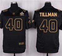 Nike Arizona Cardinals #40 Pat Tillman Pro Line Black Gold Collection Men's Stitched NFL Elite Jersey