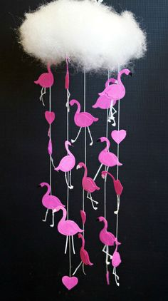 It's Raining Flamingos! DIY Mobile Tutorial