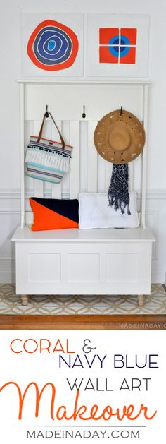 Orange & Navy Wall A