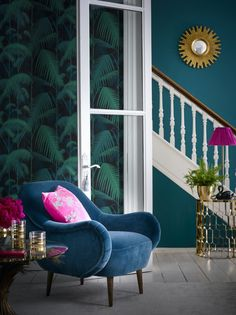 sofa.com Percy armchair in Deep Turquoise Final