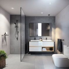 What a stunning bathroom! Beautifully designed by @bharchitects and @jackmerlodesign . #bathroom #bathroomdecor #nordichome #nordicinspiration