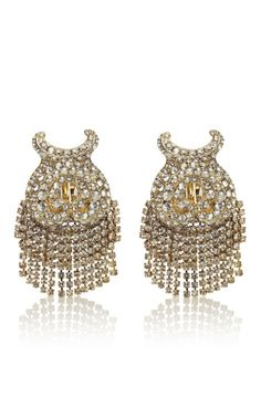 Swarovski Jeweled Baroque Earrings