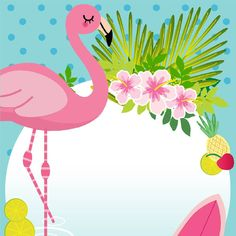 The Flamingo invitation is a beautiful option to make the guests even more enthusiastic about the flamingo party or tropical party and / or. Flamingo Party, Flamingo Birthday, Flamingo Wallpaper, Pink Flamingos, Party Themes, Birthday Parties, Invitations, Crafts, Anil
