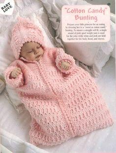 Cotton Candy Bunting free crochet pattern