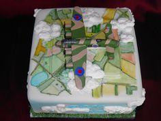 Lancaster bomber cake