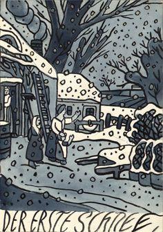 Franz von Zülow | Der erste Schnee - the first snow | 1911 | Albertina, Wien