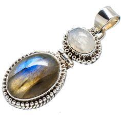 Labradorite and moonstone .925 silver