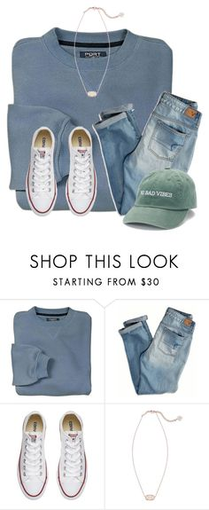 """~no bad vibes~"" by victoriaann34 on Polyvore featuring American Eagle Outfitters, Converse and Kendra Scott"