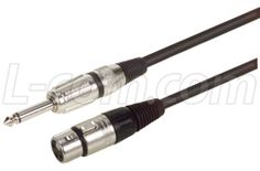 L-com's TS to XLR female cables are perfect for unbalanced microphone applications and other audio applications requiring unbalanced audio connectivity. These robust assemblies are available in seven off the shelf lengths.