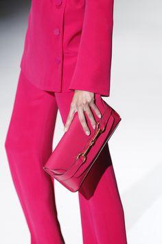 Gucci Bright Bit Sjocking Pink Patent Leather Clutch - Superb classic styling