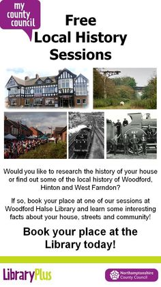 Woodford Halse Library: free local history sessions