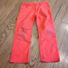 Boys orange jeans Orange husky boys  jeans a little grass stains at the knees Gap kids Jeans
