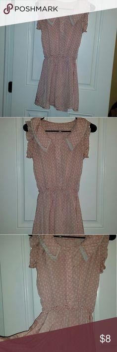 Cute pink polka dot dress lolita kawaii Cute flowy light weight little polka dot pink dress Allegra K Dresses Midi