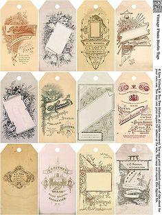 Vintage free tags