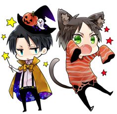 levi and eren Attack on candy  Attack on titan Halloween