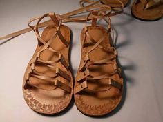 Genuine Handmade leather sandals por WilsonLeatherGoods en Etsy