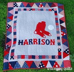 Cute baseball quilt, mine would be STL of course :)
