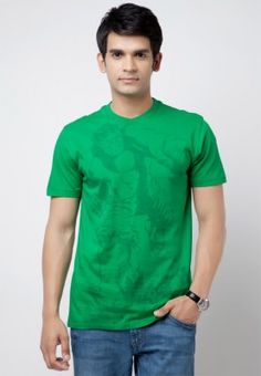 194d7bf19 Buy Marvel Green Solid Round Neck T-Shirts Online - 5751306 - Jabong