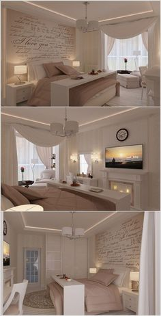 NOTE THE CURTAINS GO THE WIDTH OF THE ROOM, MAKING IT FEEL SNUG AND WARM…AND THE WALL PAPER ADD A FINISHING OTOUCH