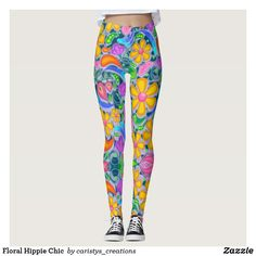 Funky Decor, Boat Decor, Floral Leggings, Color Of Life, Hippie Chic, Summer Wear, Workout Wear, Bohemian Decor, Leggings Fashion