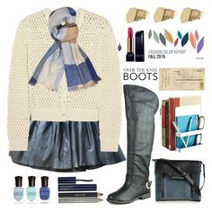 """""""Rock On:Over-The-Knee-Boots"""" by grozdana-v ❤ liked on Polyvore featuring Art Classics, Tommy Hilfiger, Gorgeous Cosmetics, Deborah Lippmann, Estée Lauder, Alice + Olivia, Diesel, Dorothy Perkins, Lancôme and Bamboo"""