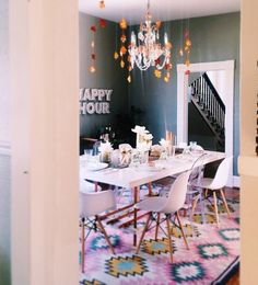 Love the fun colors used in this room.
