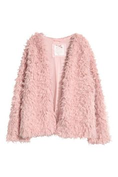 Jacket in soft faux fur. Unlined sleeves, jersey-lined front and back sections, and no fasteners. Pink Fur Jacket, Pink Faux Fur Coat, Faux Fur Jacket, Casual Outfits, Fashion Outfits, Casual Clothes, Winter Clothes, Girl Fashion, Outfit Combinations