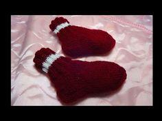 Knit Baby Dress, Knitting Videos, Baby Knitting, Gloves, Socks, Youtube, Dots, Baby Knits, Sock