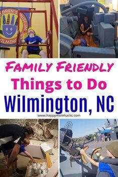 10 Awesome Things to Do in Wilmington NC with Kids   Happy Mom Hacks Wilmington Nc Beach, Battleship North Carolina, Horse Carriage Rides, Nc Beaches, North Carolina Vacations, Kure Beach, Best Weekend Getaways, Wrightsville Beach, Carolina Beach