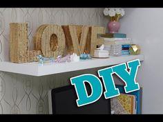 DIY: Decor (Letras douradas) | Comprando Meu Apê
