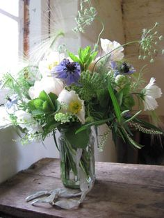 English flowers and herbs