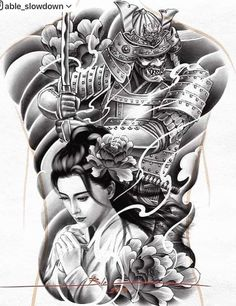 Samurai Tattoo Sleeve, Koi Tattoo Sleeve, Samurai Warrior Tattoo, Tattoo Sleeve Designs, Tattoo Designs Men, Armor Tattoo, Warrior Tattoos, Norse Tattoo, Tattoo Symbols