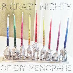 love these 8 days of diy menorahs! @Ciaran Blumenfeld